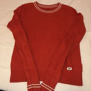 Red Abercrombie & Fitch knit sweater